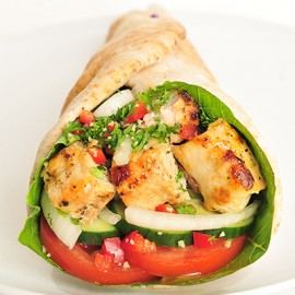 Shish Tawook Wrap (468 - 547 cals)