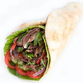 Beef Shawarma Wrap (438 - 529 cals)