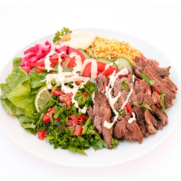 FRIDAY / SATURDAY SPECIAL - 2 PLATTERS OF CHICKEN OR BEEF SHAWARMA (1904 - 2684 cals)