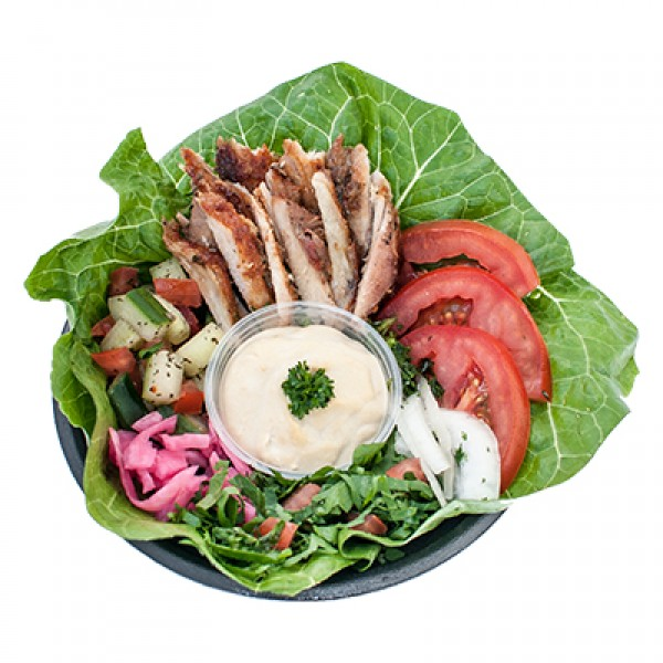 Chicken Shawarma Salad (1170 - 1420 Cals)