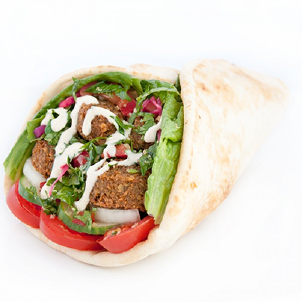 TUESDAY SPECIAL - TWO FALAFEL WRAPS (1382 - 1540 cals)